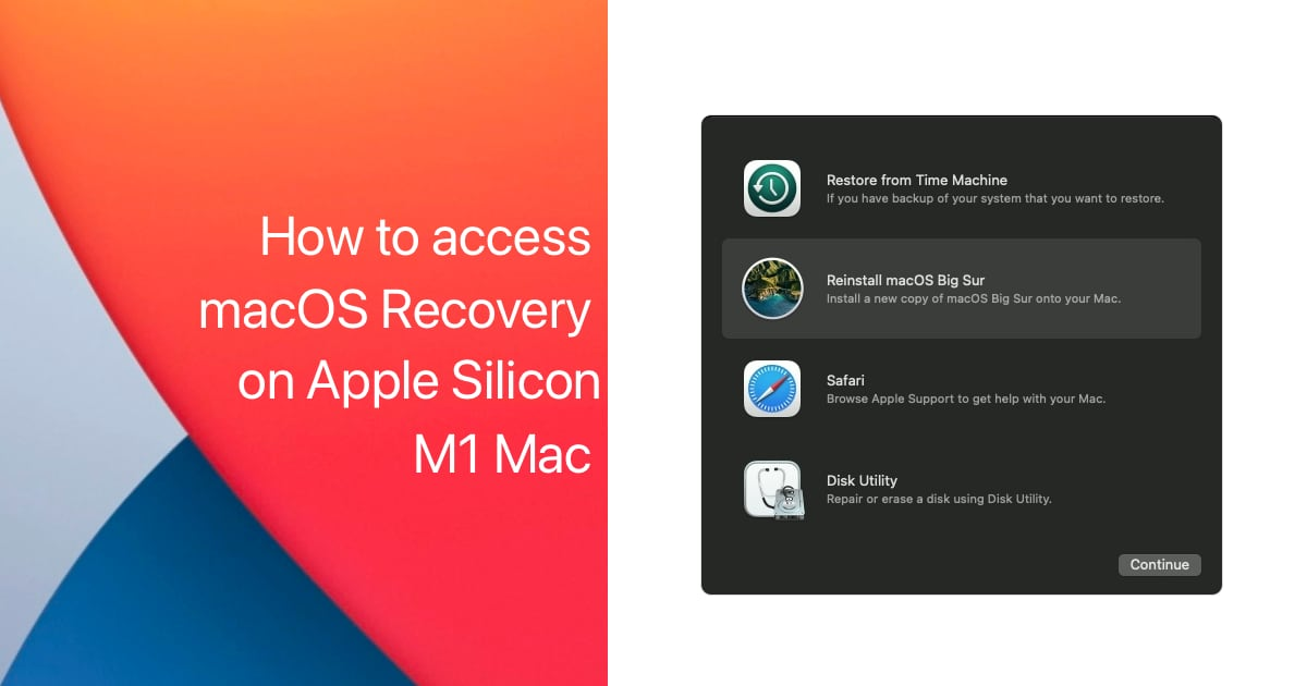 access macOS Recovery