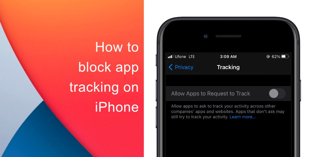 How to block app tracking on iPhone and iPad