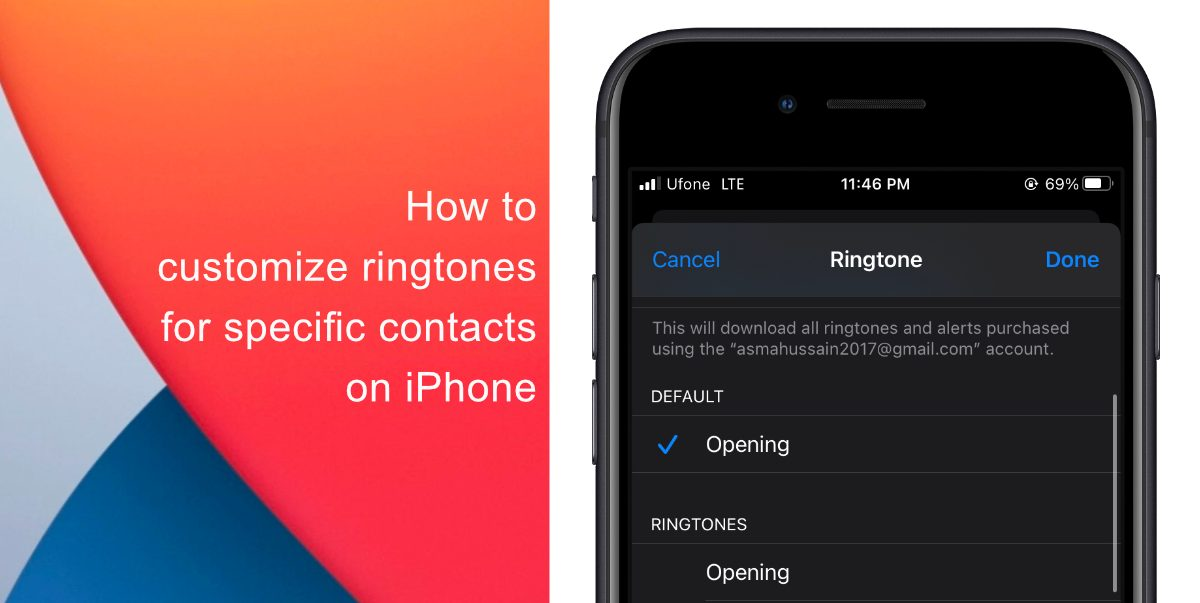 How to customize ringtones for specific contacts on iPhone