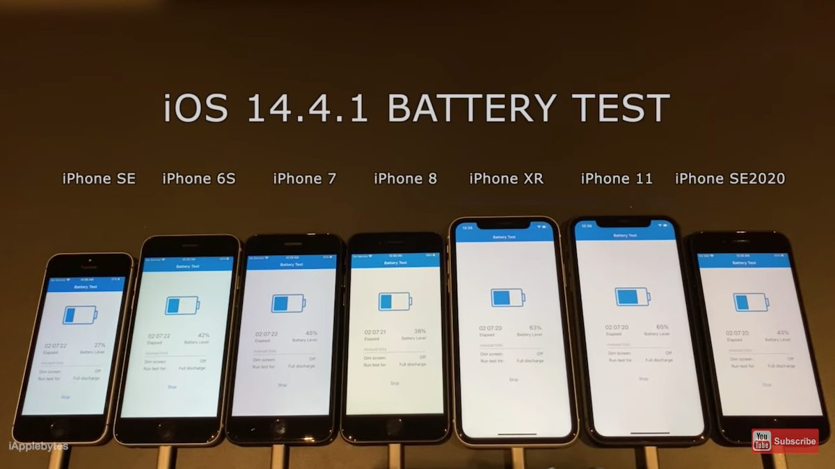 iOS 14.4.1 - battery test
