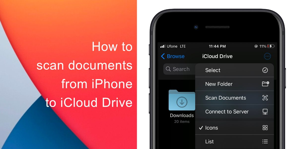 How to scan documents from iPhone to iCloud Drive