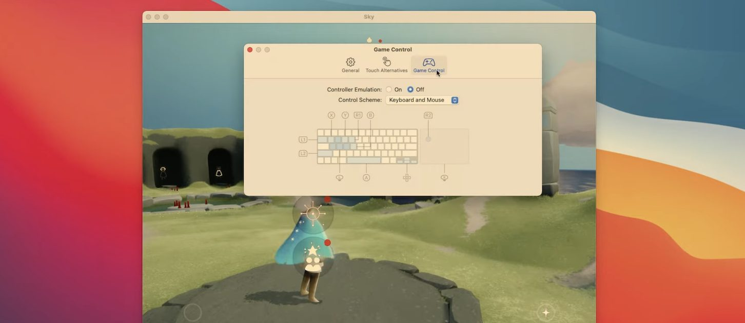 macOS Big Sur 11.3 Game Controller Emulation