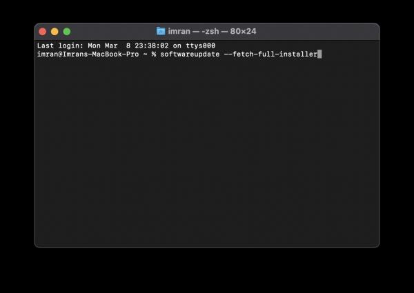re-download macOS Big Sur Installer terminal