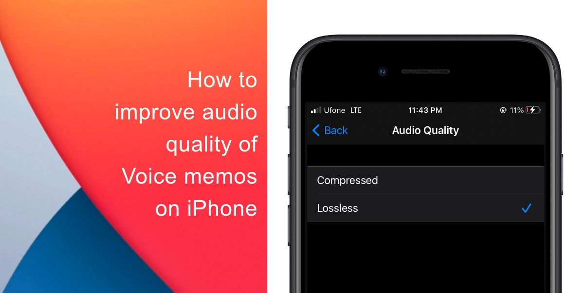 How to improve audio quality of Voice memos on iPhone