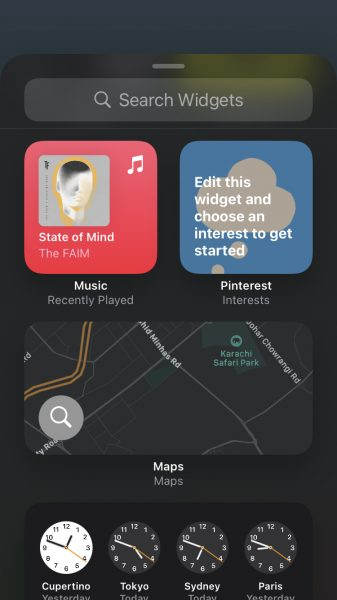 How to add and resize widgets on iPhone