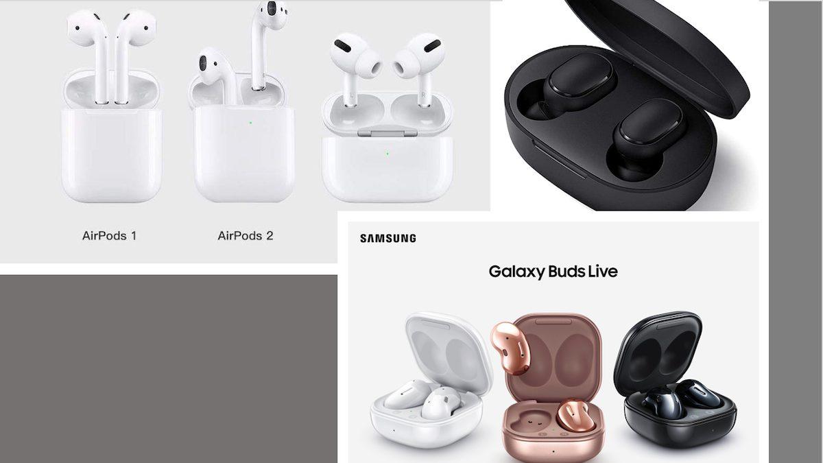 Apple AirPods-Samsung-Xiaomi