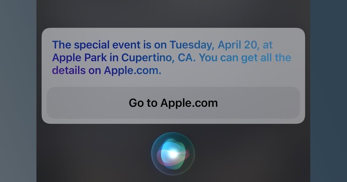 Apple event Siri