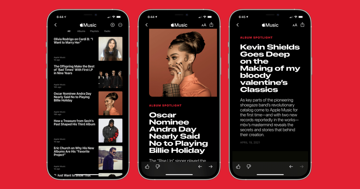 Apple Music editorial channel added to Apple News