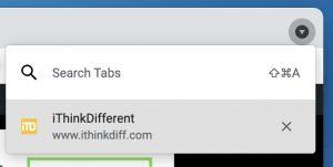 Chrome 90 Tab Search