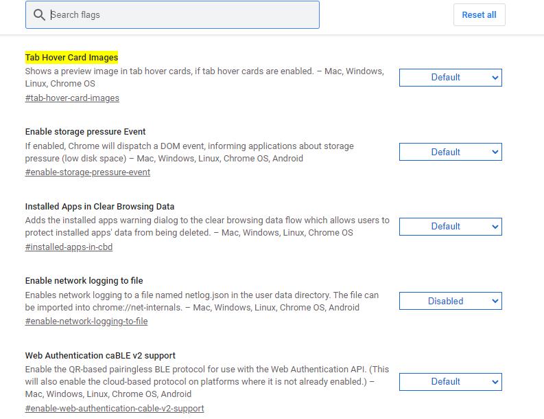 Google Chrome image previews guide