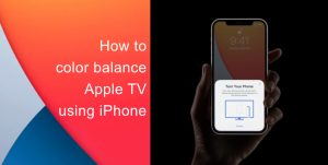 How to color balance using iPhone