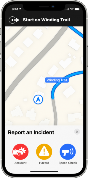How to report incidents in Maps on iPhone