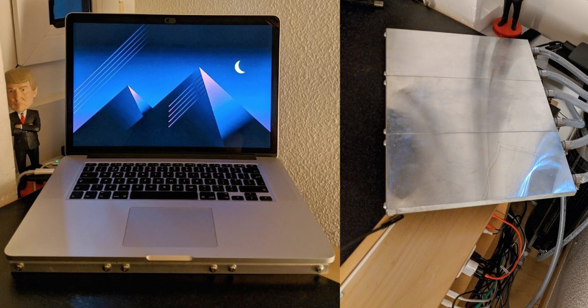 MacBook Pro water cooling system