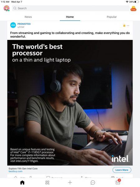 Intel Tiger Lake MacBook