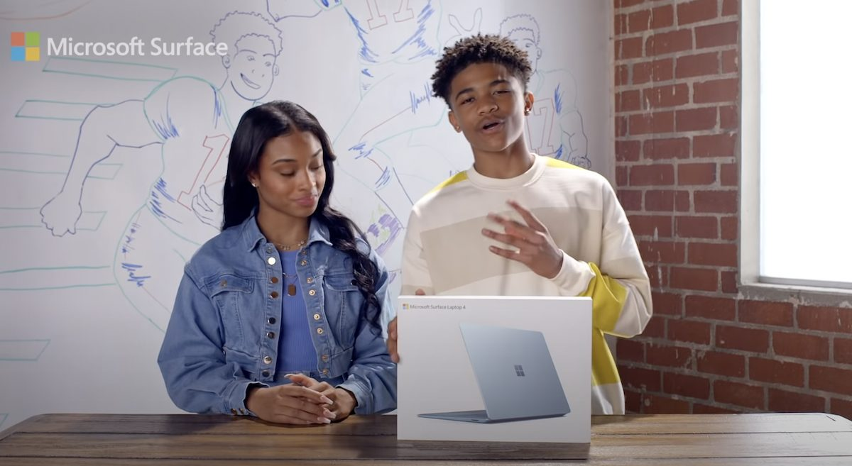 Surface Laptop 4 vs MacBook Air ad