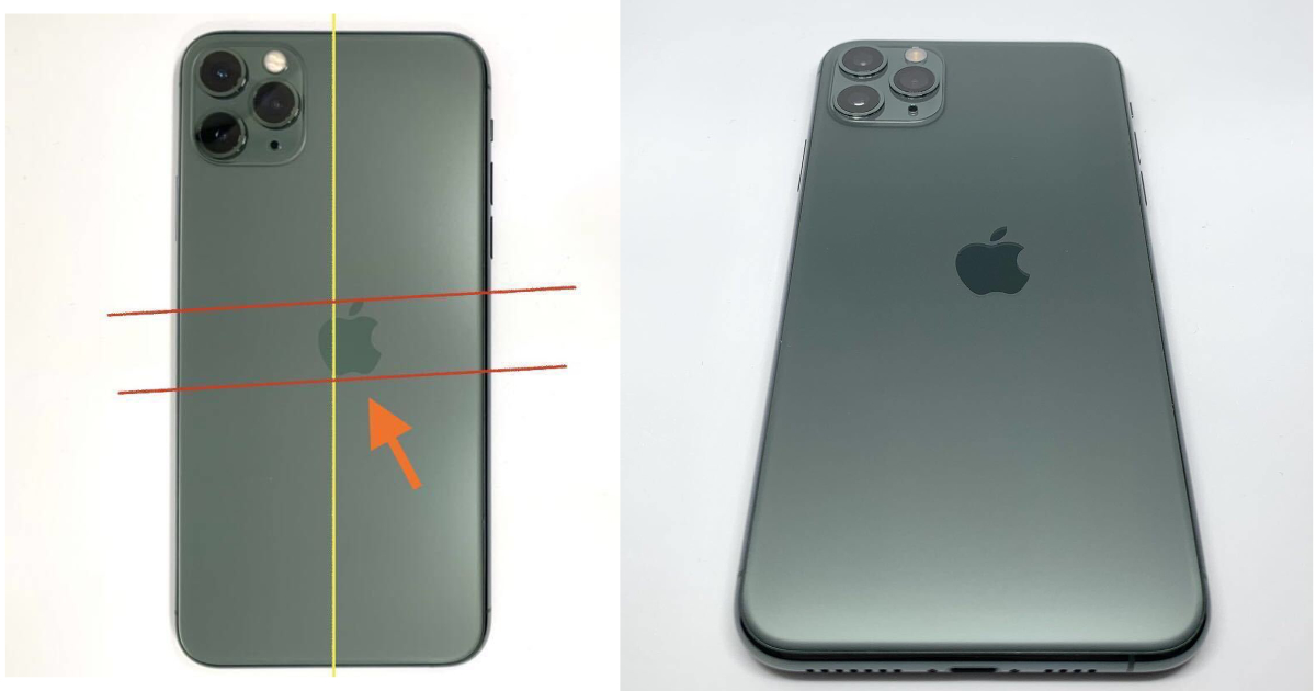 Someone sold an iPhone 11 Pro with an off-centred Apple logo for $2700