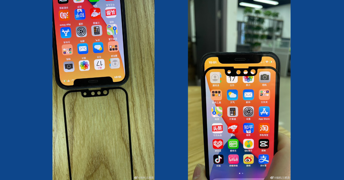 New images show alleged iPhone 13 notch design compared to iPhone 12