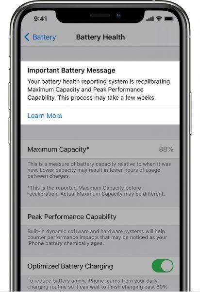 ios14-iphone11-pro-settings-battery-battery-health-recalibrating-maximum-capacity-and-peak-performance-capability-crop