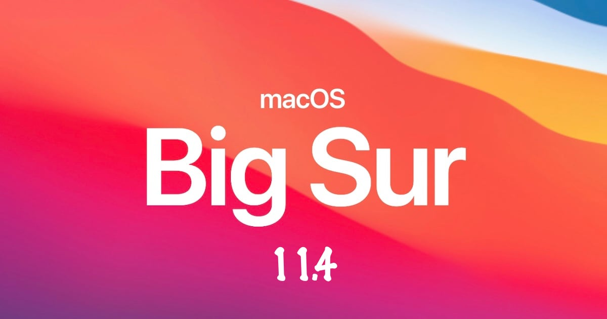 macOS Big Sur 11.4 beta