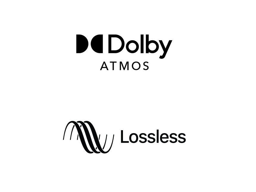 Apple Music lossless spatial audio logos