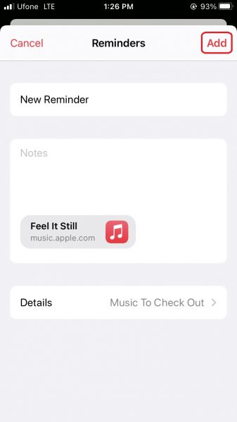 Learn how to set reminders for Apple Music tracks and albums