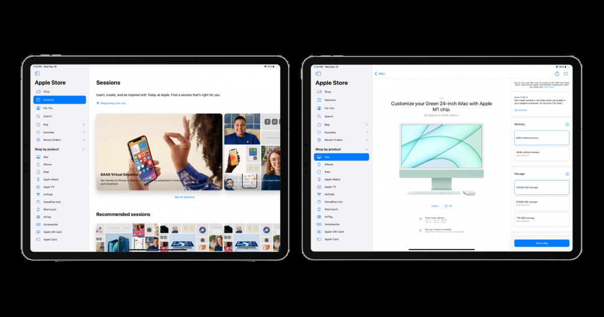 Apple debuts Apple Store version 5.12 on iPadOS