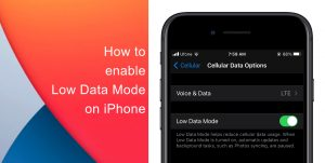 How to enable Low Data mode