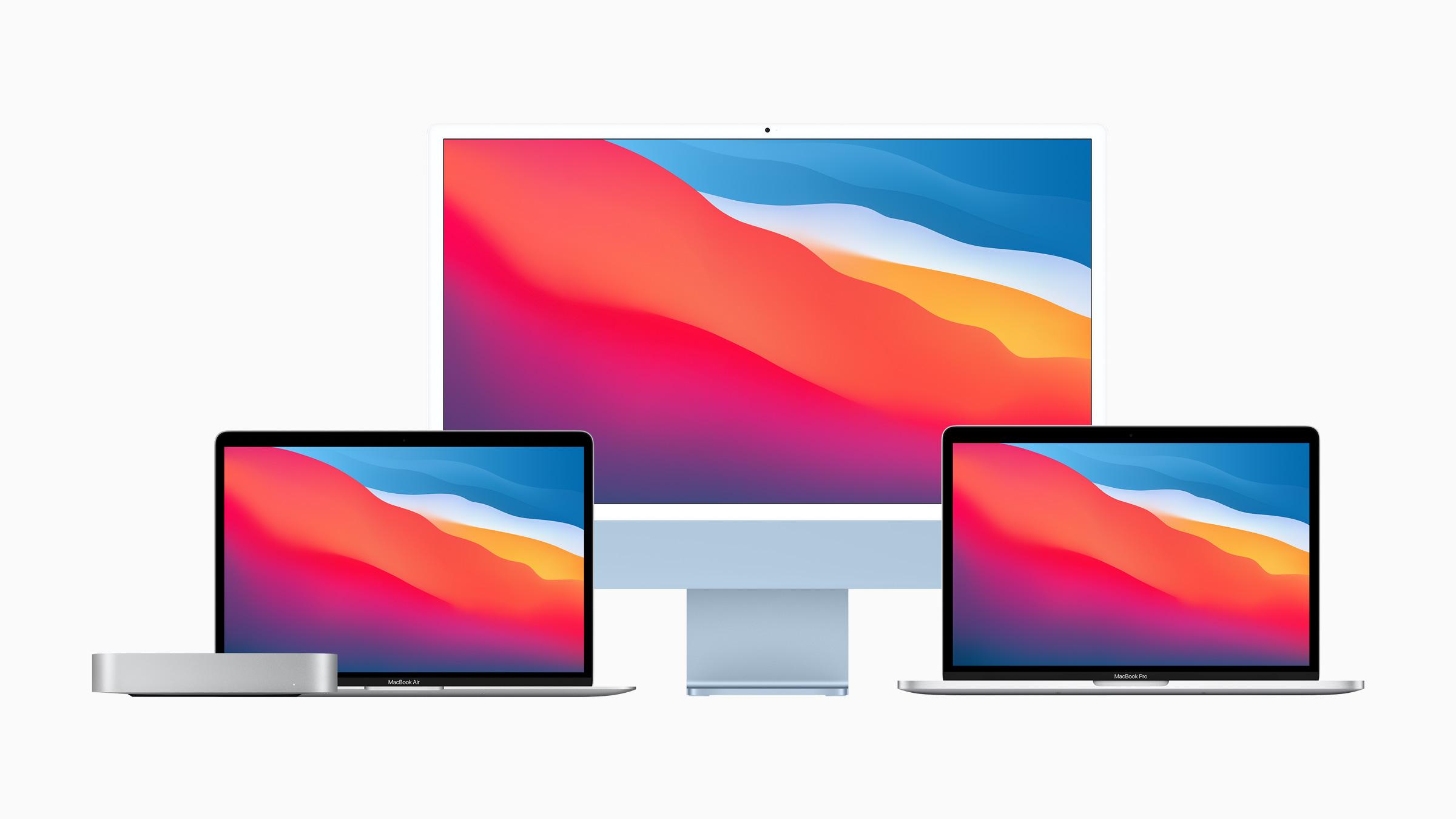 M1 Mac iMac MacBook Air Pro lineup