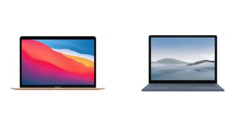 M1 MacBook Air vs Surface Laptop 4