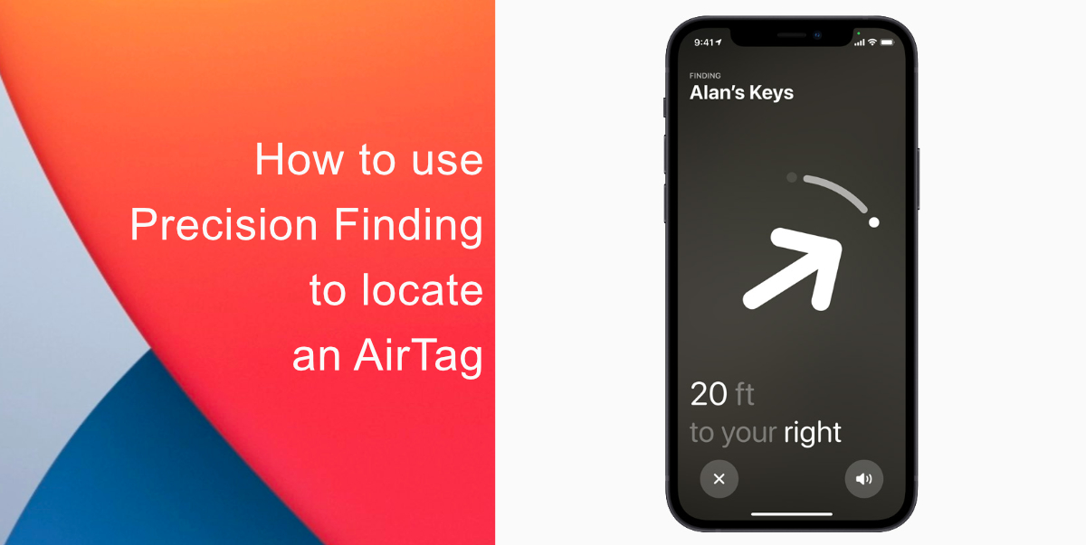 How to use Precision Finding to locate an AirTag