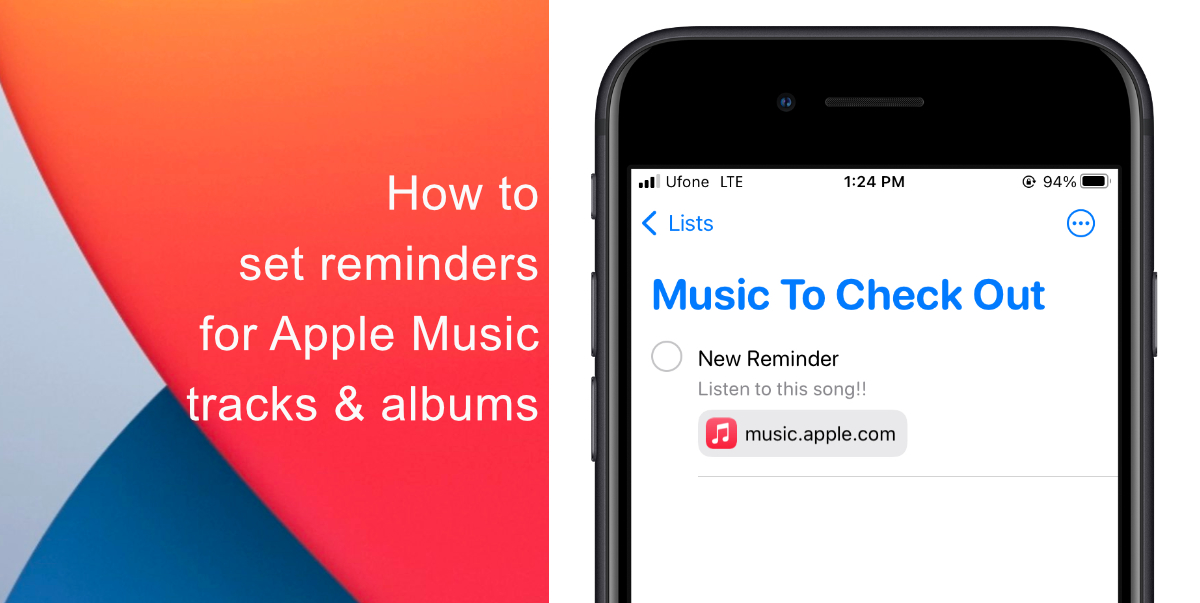 How to set reminders for Apple Music tracks and albums
