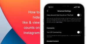 How to hide like and view counts on new posts