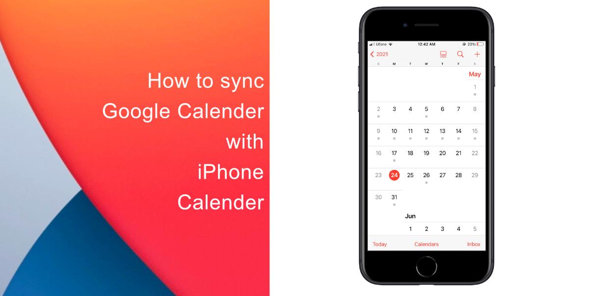 How to sync google calendar with iphone calendar