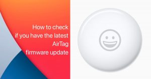 AirTag firmware update
