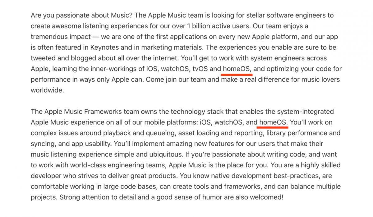 Apple could be launching new 'homeOS' operating system, reveals job posting