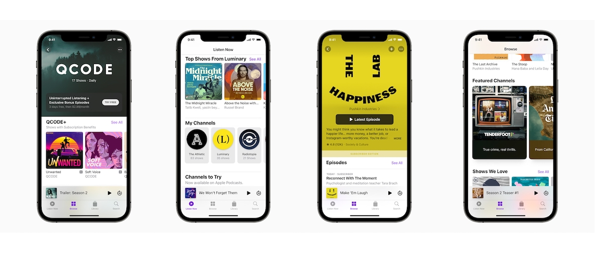 Apple Podcasts Subscriptions and Channels