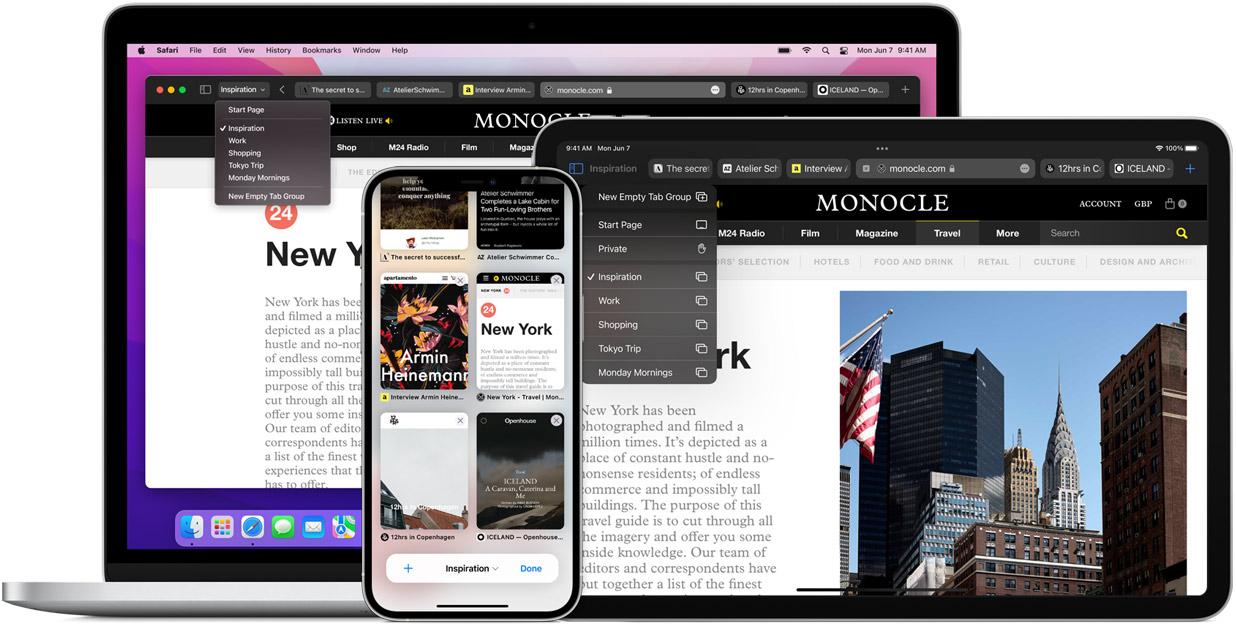 Safari iOS 15 iPadOS 15 macOS Monterey