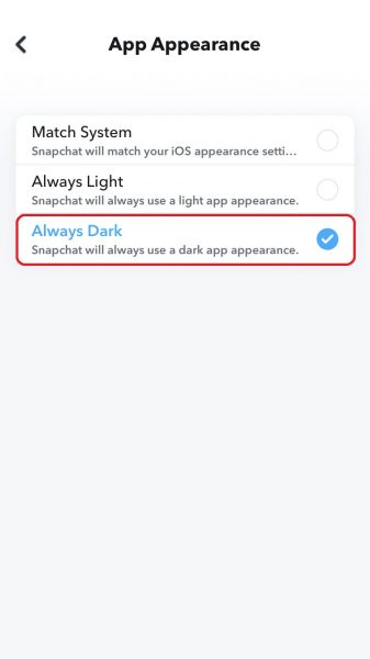 Learn how to enable Snapchat's Dark Mode on iPhone