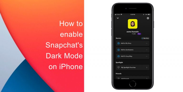 How to enable Snapchat's Dark Mode on iPhone