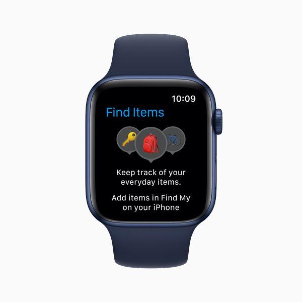 watchOS 8 find items