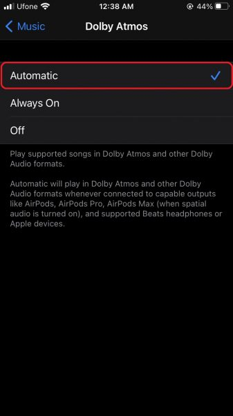 How to enable Apple Music Dolby Atmos Spatial Audio on iPhone