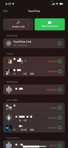 How to make a FaceTime call to Android users on iOS 15