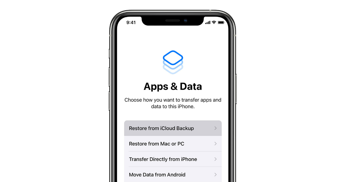 iOS 15 allows users to update to beta release when restoring device from iCloud backups