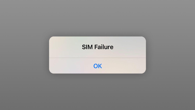 iOS 14.7 SIM Failure error
