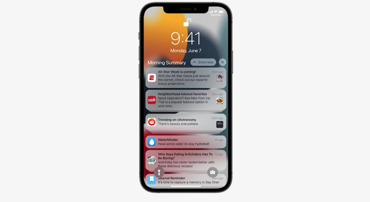 New Notifications and Focus on iOS 15