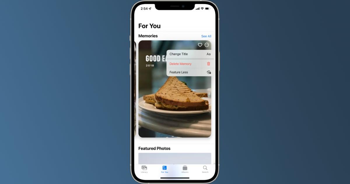 iOS 15 Photos Feature Less