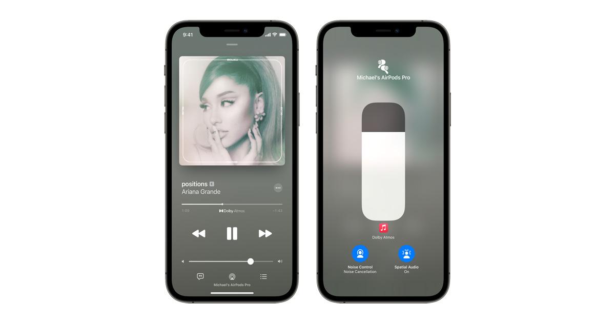 iOS 15 Spatial Audio feature