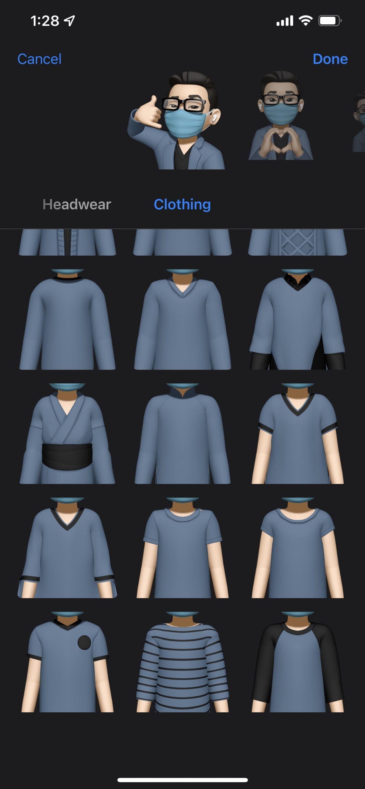 iOS 15 beta 2 memoji outfits