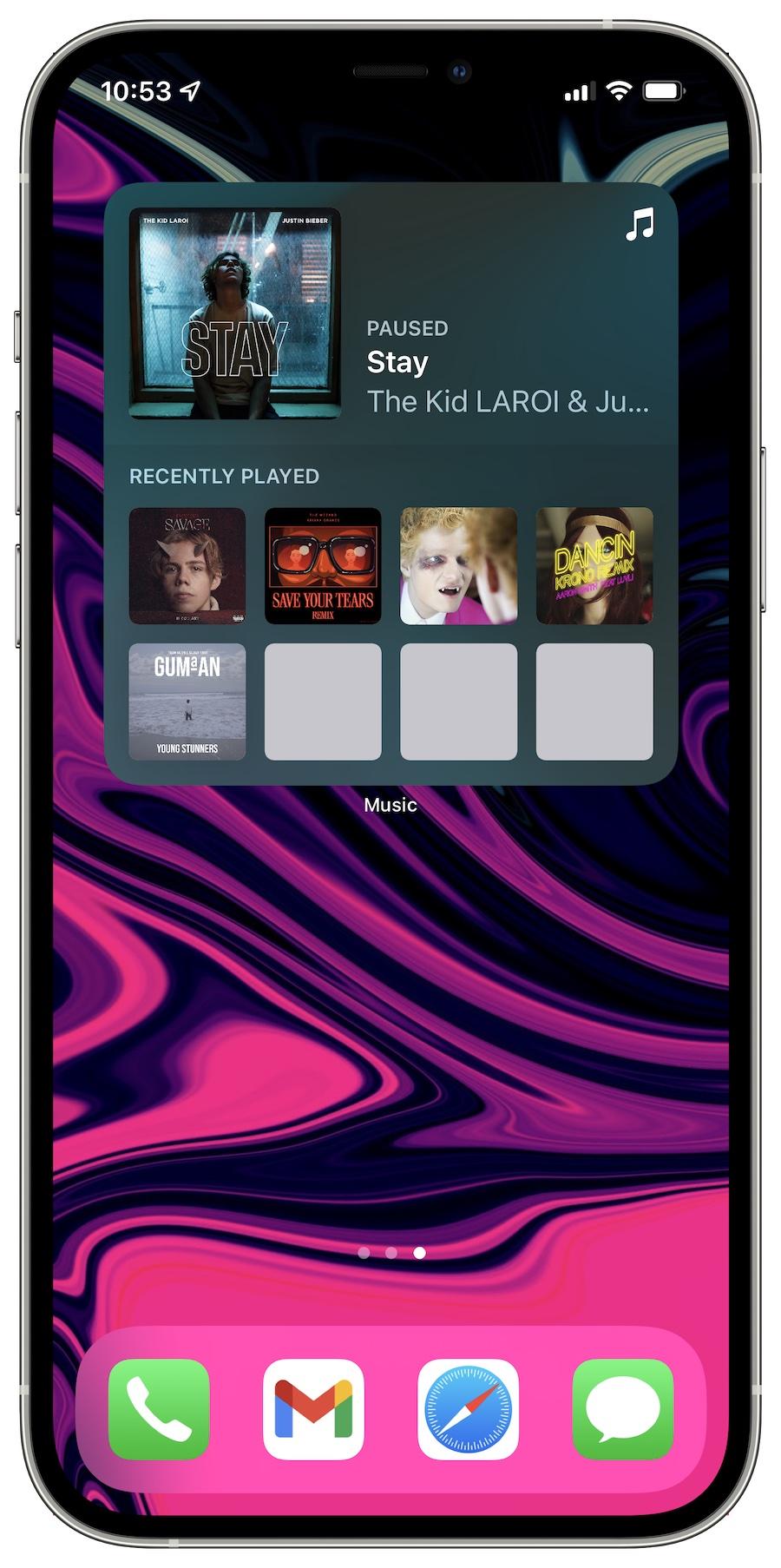 iOS 15 beta 3 Music widget updates