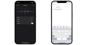 iOS 15 text selection date picker wheel